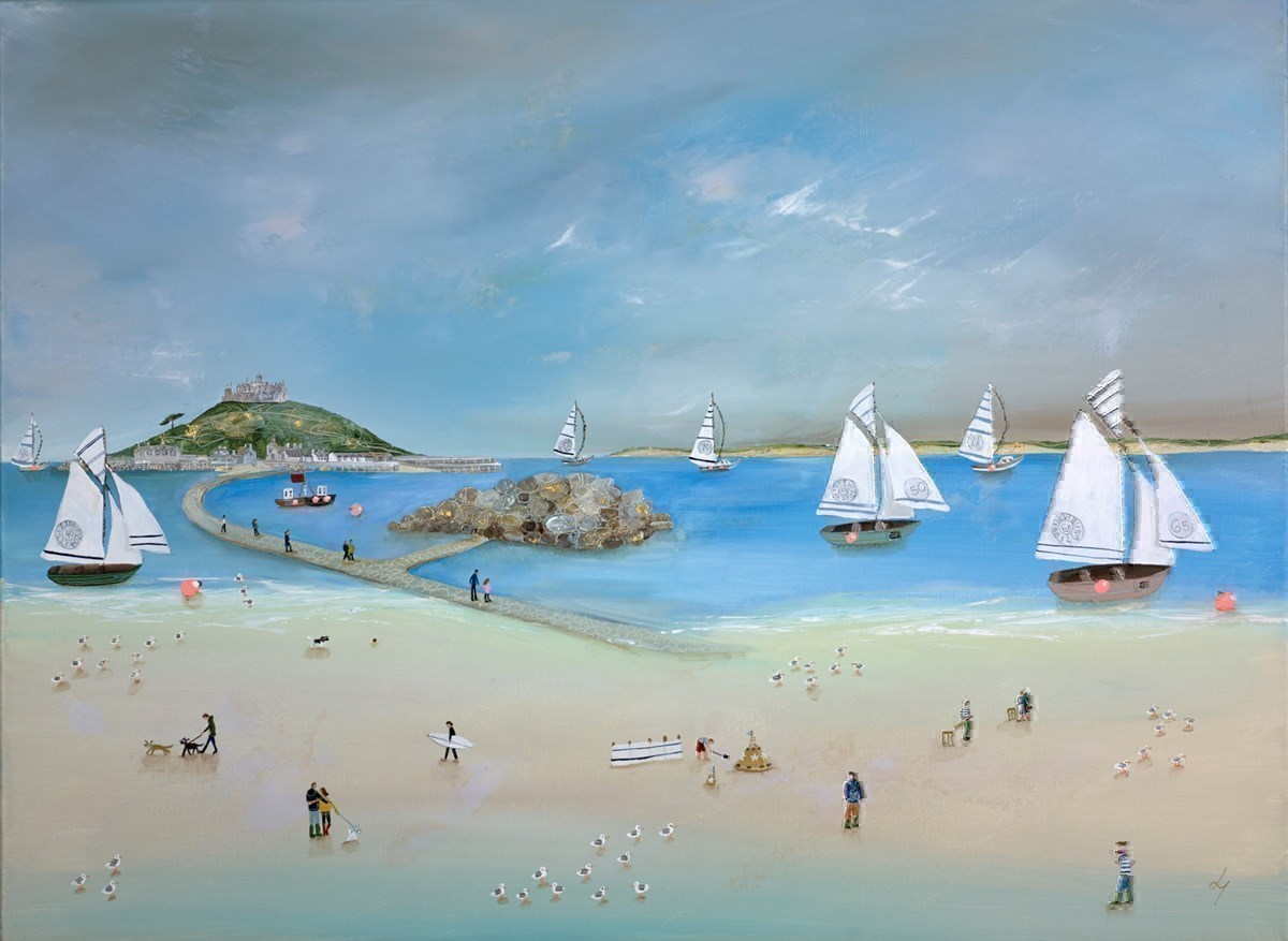 Crossing the Causeway by Lucy Young -  sized 32x24 inches. Available from Whitewall Galleries